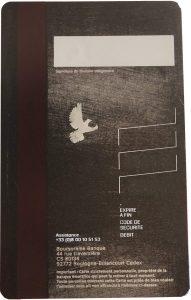 Dos de la carte ULTIM de Boursorama - Carte bancaire sans frais à l'étranger