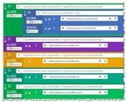 Actions conditionnelles (Jeedom). Réaction à différents appuis sur différents boutons.