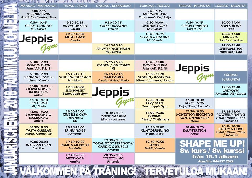 januari schema