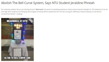 Jeraldine Phneah thoughts on the bell curve system