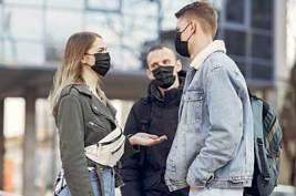 people wearing facemaks