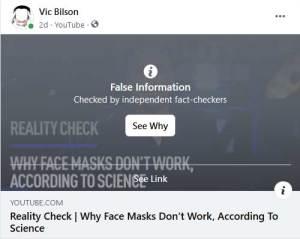 Facebook fact check censorship
