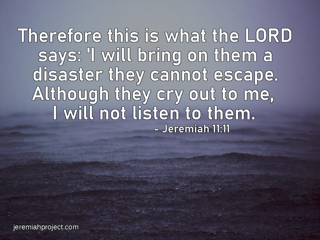 Jeremiah 11 11