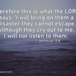 Jeremiah 11:11