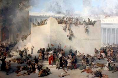 Temple destruction in 70AD