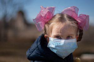 masked child