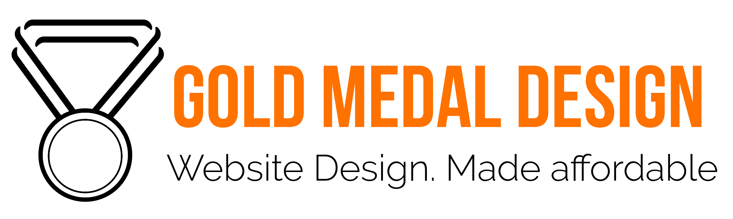 Gold Medal Design Logo with Tagline