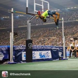 Barshim jumping 2.43m. Second highest jumper ever!