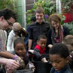 Planting at the Brooklyn Children's Museum