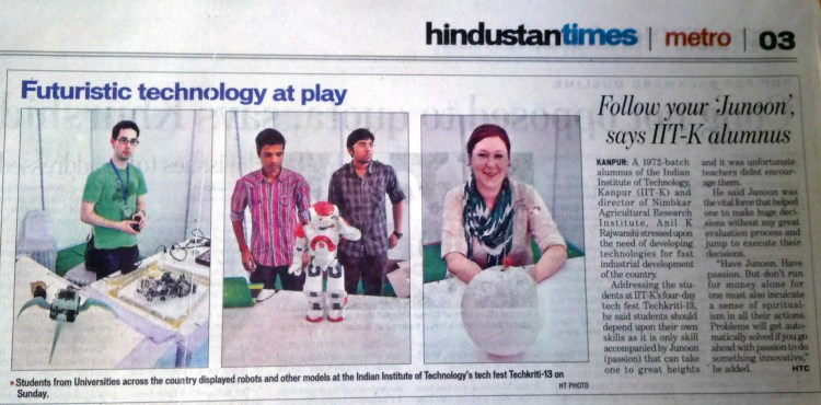 I made an appearance in the Indian Newspaper!