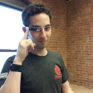 Wearing Google Glass