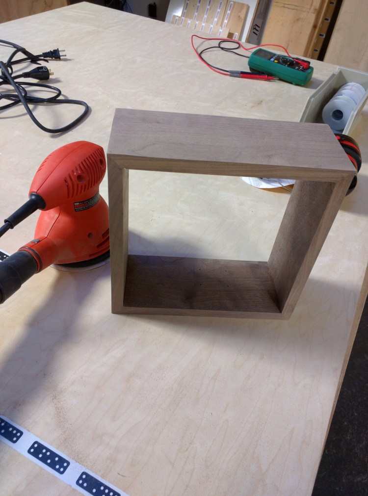 Sanding the box