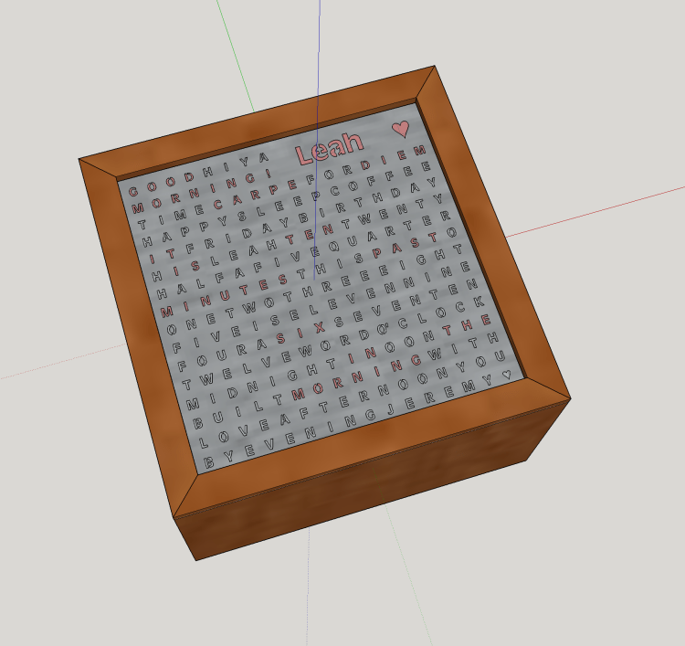3D model of the full clock