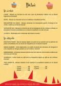 Conception d'un flyer spécial noël pour une boulangerie.