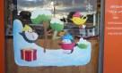 Peinture de noël sur une vitrine de boulangerie (2020)