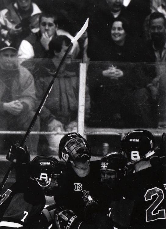 Hockey players celebrate a win – from Jeremy Larochelle's photo portfolio.