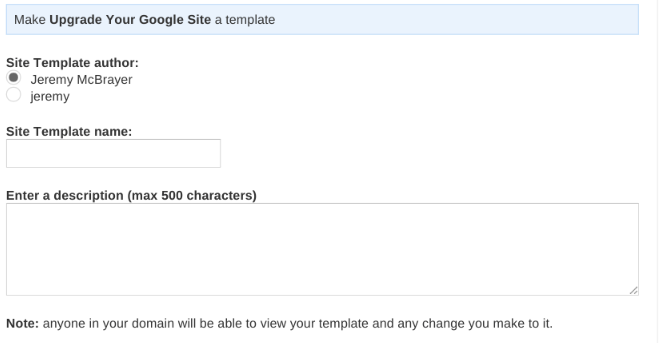Publish a Google Sites Template - Jeremy McBrayer