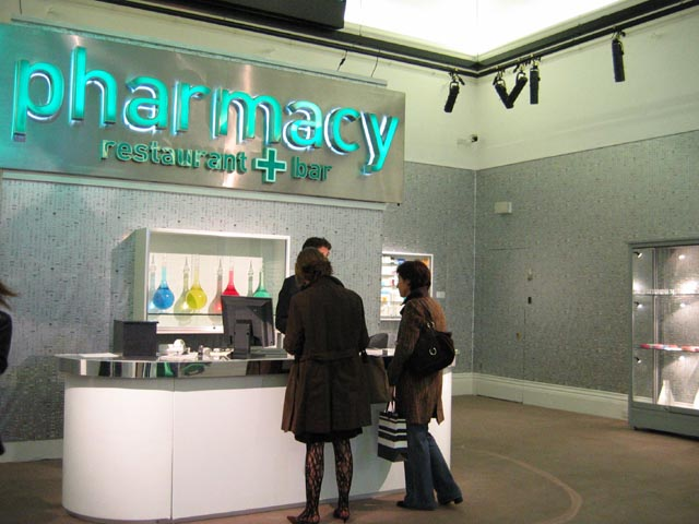 Pill Themed Pharmacy Wallpaper By Damien Hirst