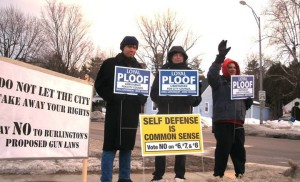 Sign Wave with Loyal Ploof - Ward 4 City Council Candidate