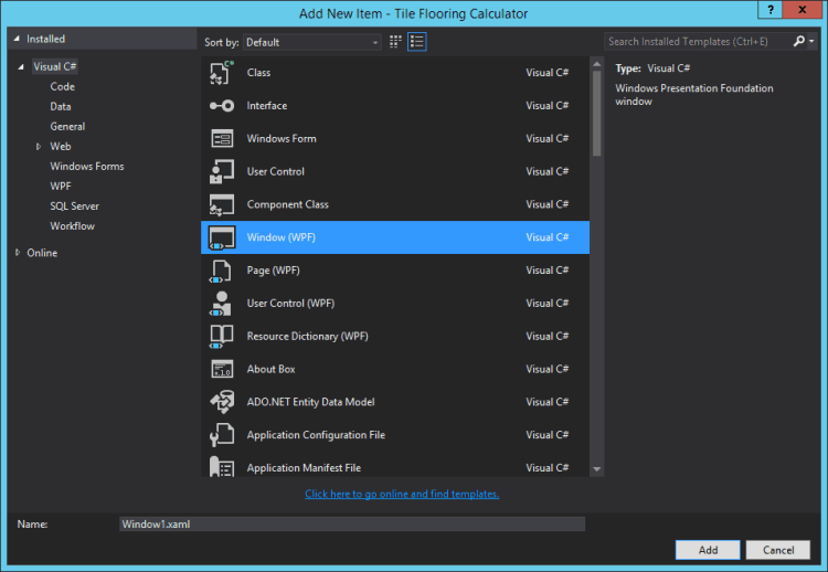 visual-studio-add-new-window