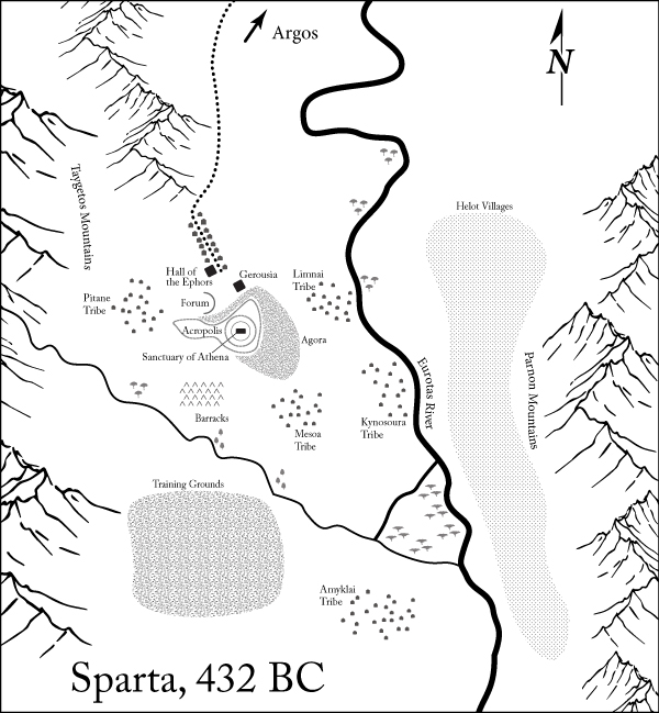 Map of Ancient Sparta for Akon's Mission
