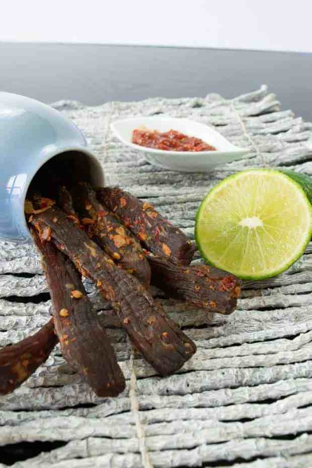 Chili Lime jerky Finished with lime