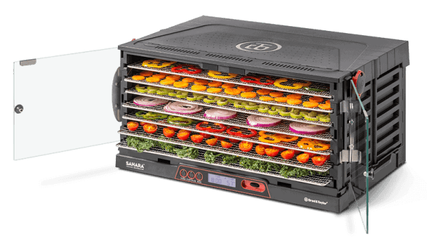 Sahara Dehydrator filled with fruit