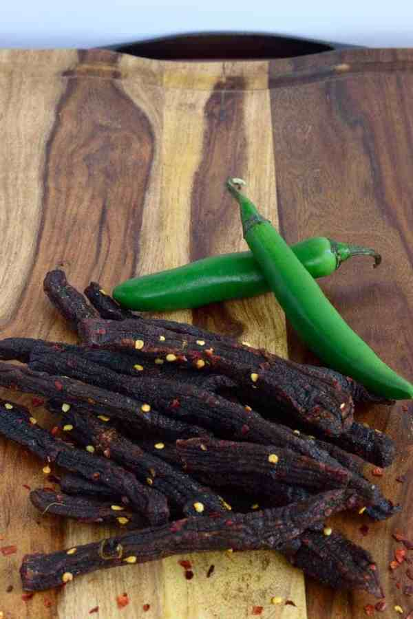 A spicy jerky made with Mexican hot Serrano peppers | Jerkyholic.com