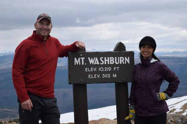 Linda and I Mt Washburn