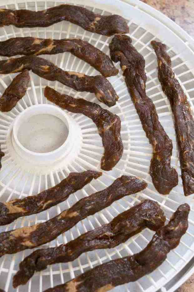 Dale's Steak Marinade Beef Jerky on Dehydrator
