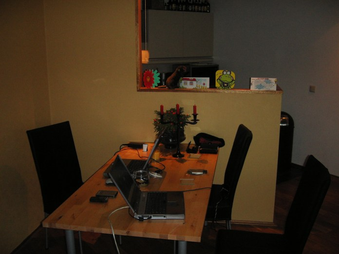 Eettafel als werkplek