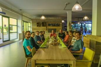 Lunch met het team