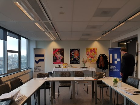 De ruimte van de audit van de Hogeschool van Amsterdam.