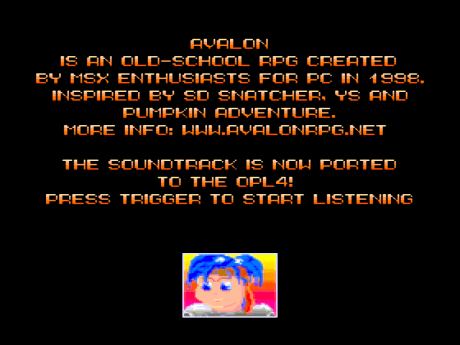 Avalon MSX Music ROM Intro