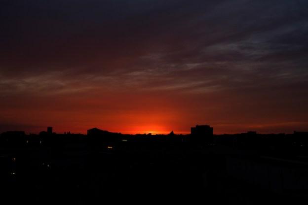 Assen, 2017   Red sky