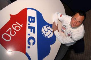 Jeroen Verhoeven met BFC Logo