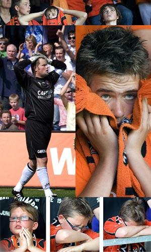 Treurnis bij fans en spelers van Volendam, onder wie doelman Jeroen Verhoeven