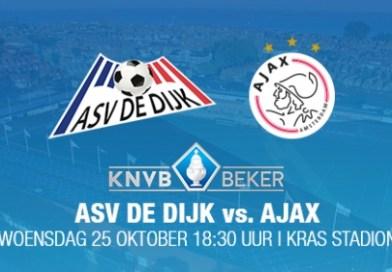 Kaartverkoop a.s.v De Dijk –  AFC Ajax