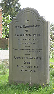 Jerome K Jerome's grave at Ewelme