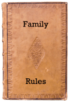 family-rules-leather-book