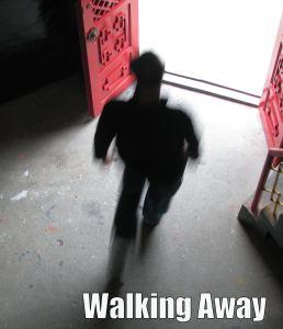 walking away text
