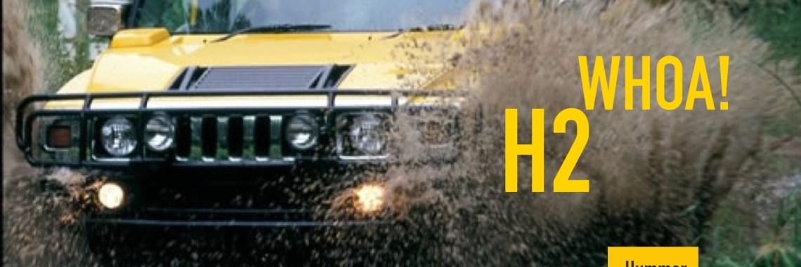 Hummer 2 Crashes through water - H2 Whoa!
