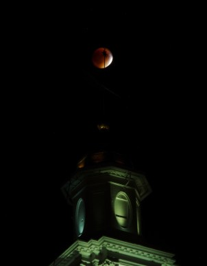 Eclipse-clock-tower - Blood Moon