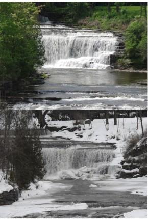 Talcotville Falls -winter-summer