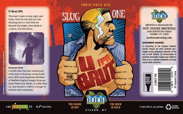 U BRUT Beer Label