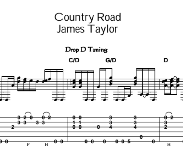 James Taylor Country Road Tab