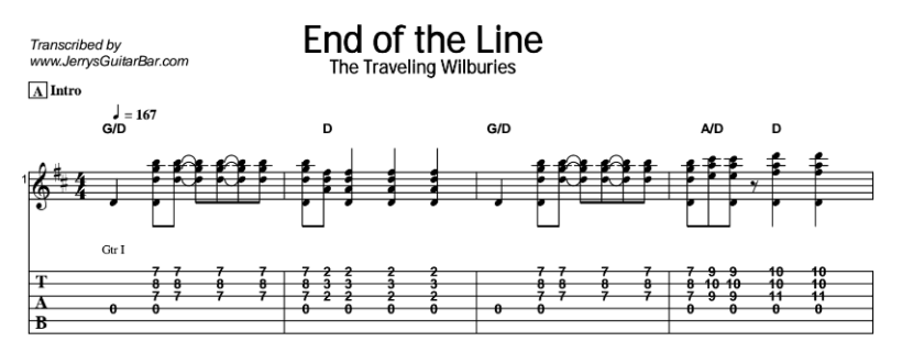 Traveling Wilburys End Of The Line Guitar Chords | Myvacationplan.org