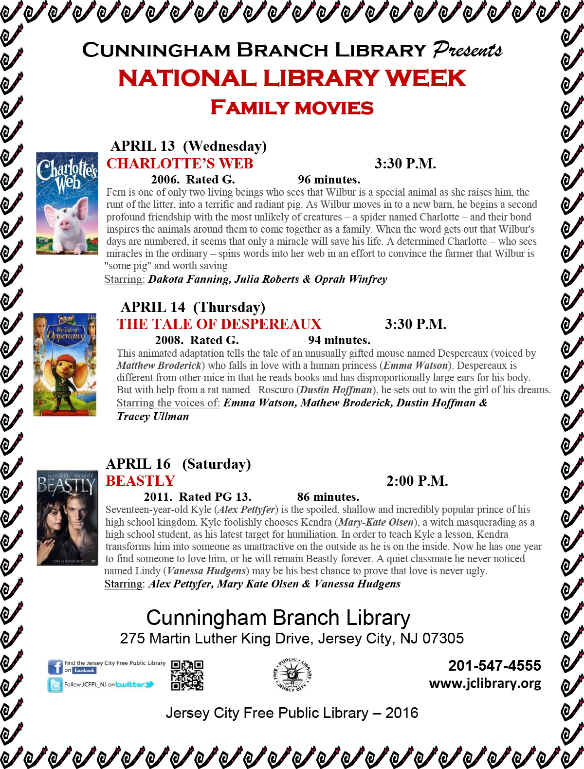 Cunningham Branch Library Presents National Library Week