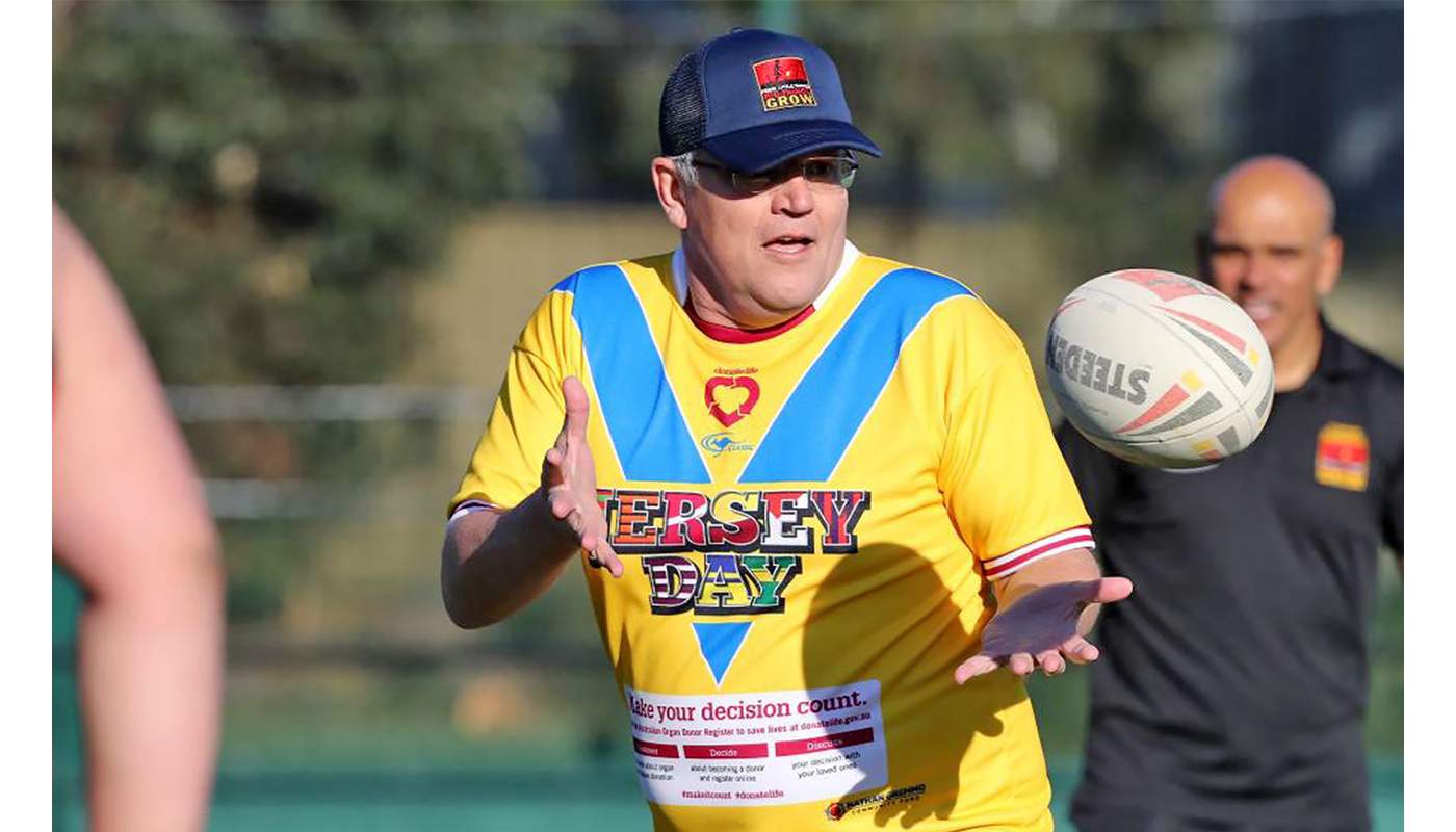 JERSEY DAY Scott Morrison PM