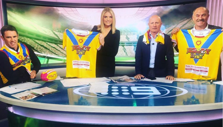 press coverage jersey day channel 9 sunday footy show